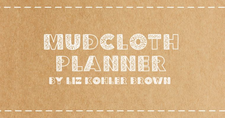Free Customizable Digital Planner | Mudcloth Inspired Design on Recycled Paper with Colorful Stickers