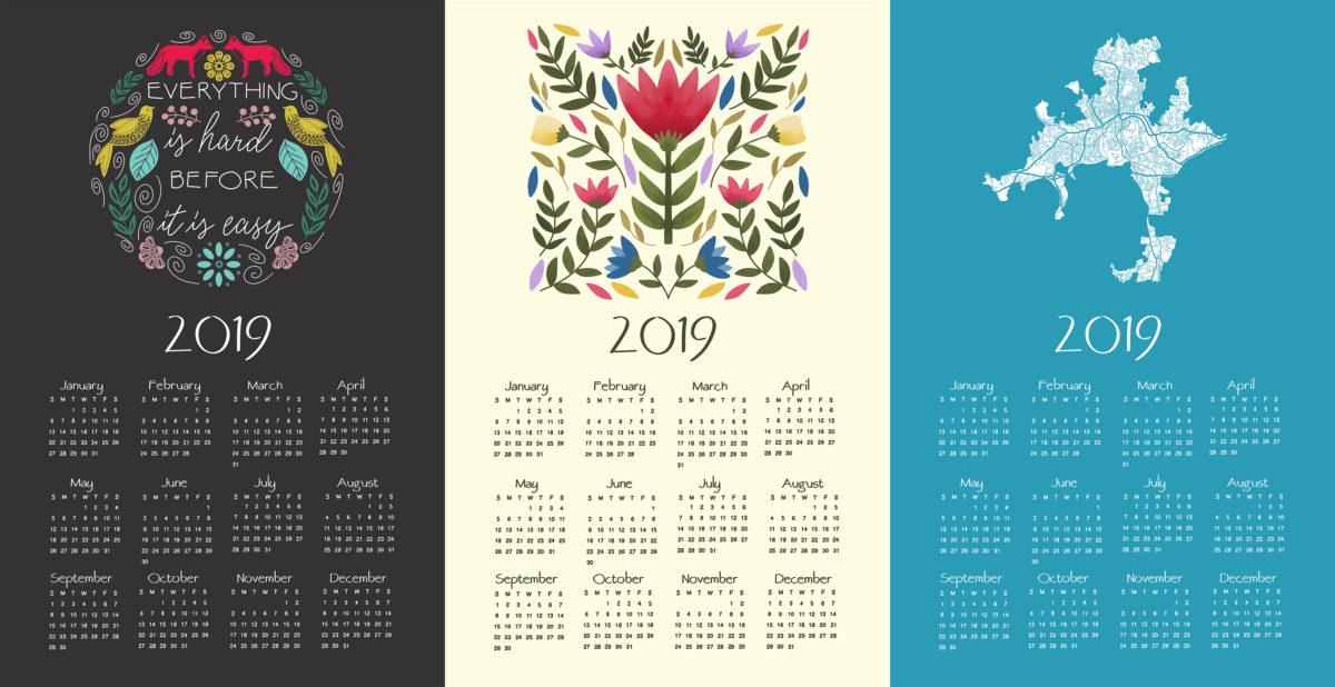 Free Calendar Template for 2019   Design Your Own Calendar ...