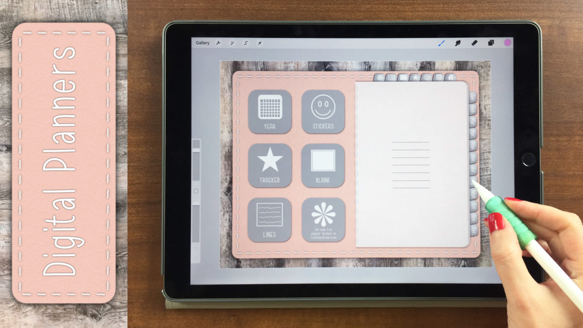Learn How to Design a Digital Planner on Your iPad: Buttons, Stickers, Textures, & Tabs