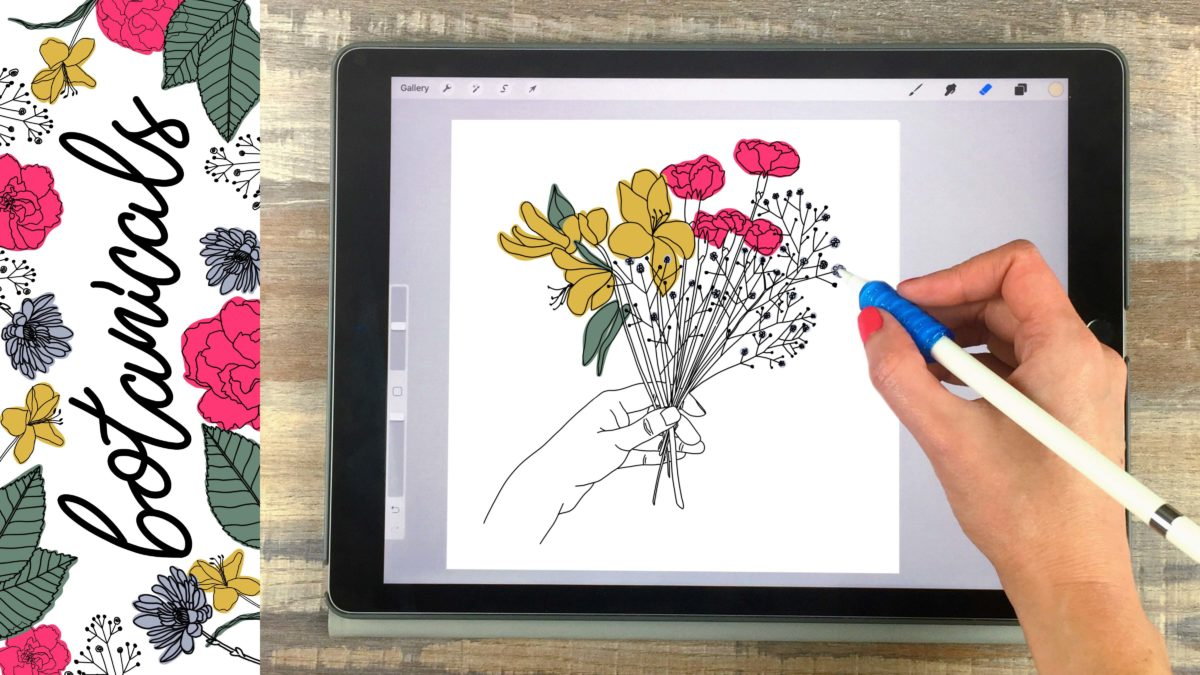 How to Create Botanical Illustrations on Your iPad in Procreate + 15 Free Procreate Brushes