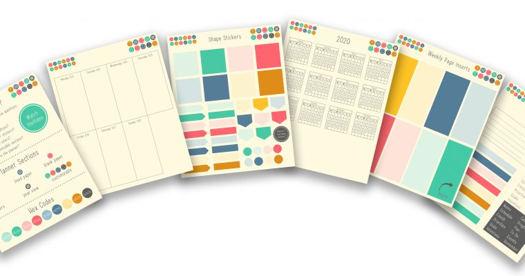 Free November 2019 – 2020 Digital Planner with Customizable Sections and Buttons