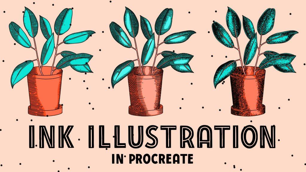 ink illustration in procreate, free procreate ink brushes